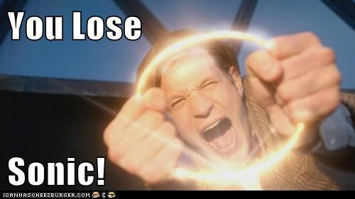 doctor who,lose,Matt Smith,rings,sonic the hedgehog