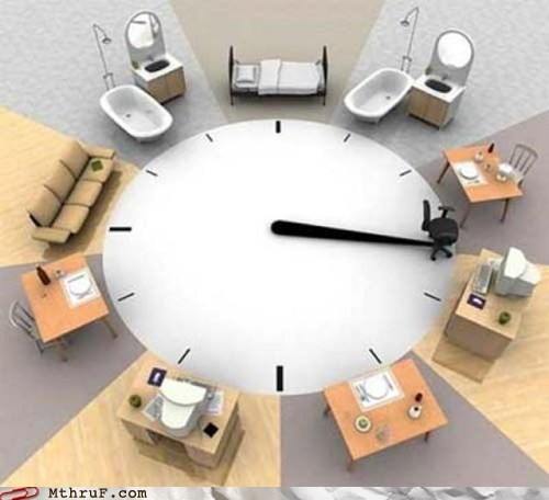 clock,eerily similar,g rated,M thru F,real life clock,schedule
