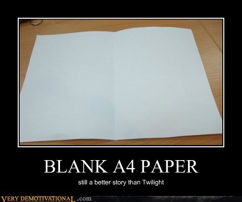 BLANK A4 PAPER