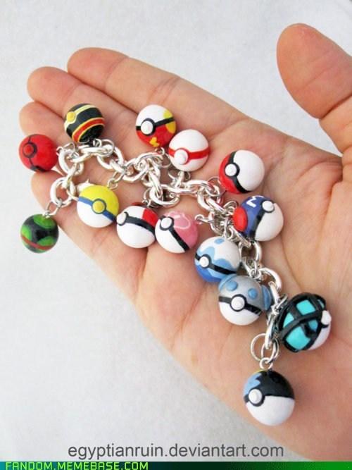 cute,FanArt,Jewelry,Pokeballs,Pokémon