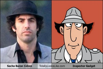 Sacha Baron Cohen Totally Looks Like Inspector Gadget