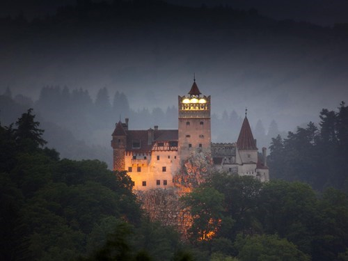 bran castle,castle,europe,evening,getaways,Hall of Fame,night photography,romania,user submitted