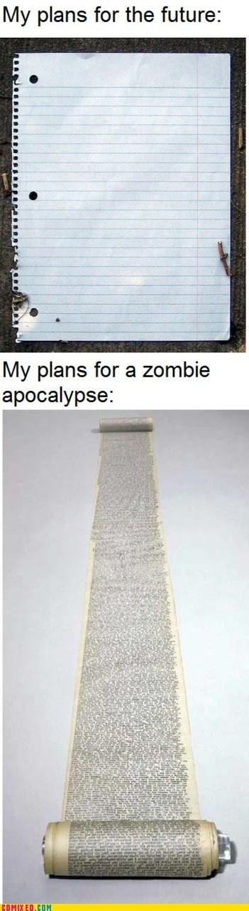 best of week,plans,plans for the future,survival,zombie apocalypse,zombie
