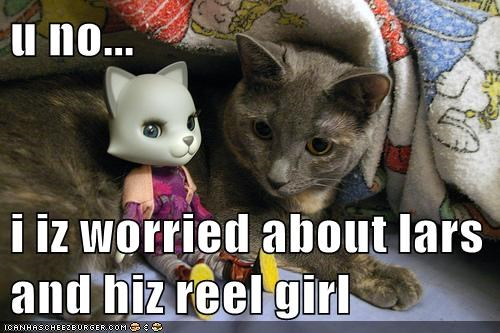 caption,captioned,cat,concerned,doll,lars and the real girl,love,Movie,worried