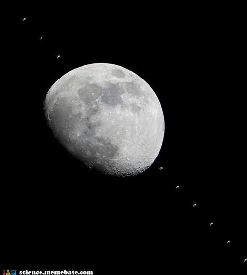amazing,Astronomy,ISS,moon,photograph