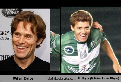 Willem Dafoe Totally Looks Like M. Hoyos (Bolivian Soccer Player)