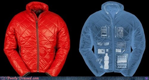 backpack not needed,jacket,lots of pockets,winter coat,winter weird