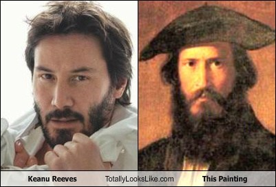 Keanu Reeves Totally Looks Like This Painting
