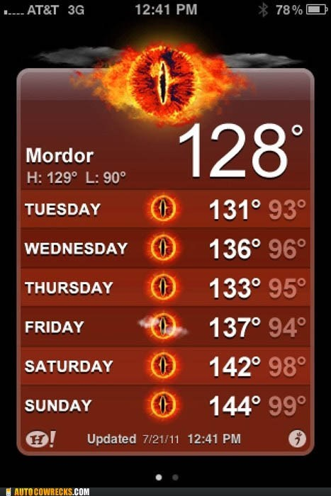 Autocowrecks: One Does Not Simply Wear Sunscreen in Mordor