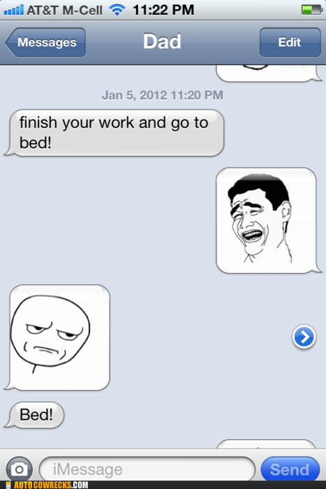 Parents Using Rage Faces Semi-Correctly? Impossibru!