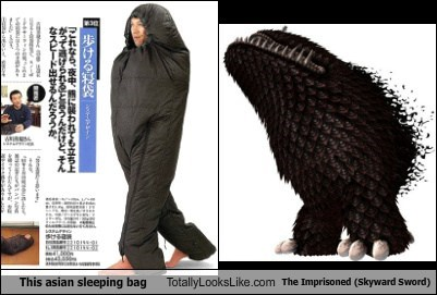 This Asian Sleeping Bag Totally Looks Like The Imprisoned (Skyward Sword)