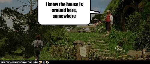 Bilbo Baggins,elijah wood,frodo,house,lost,somewhere,suburbs,The Hobbit