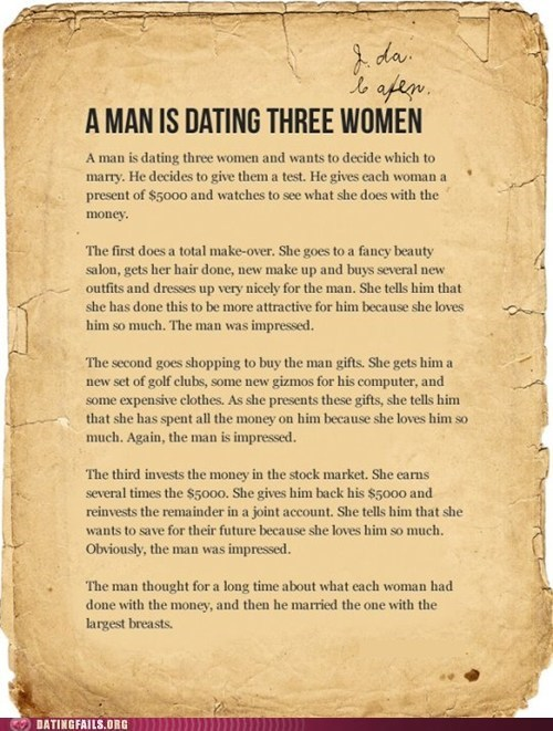 Dating Fails: The Test