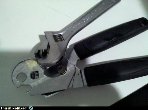 can opener,DIY,dual use,g rated,there I fixed it,tools