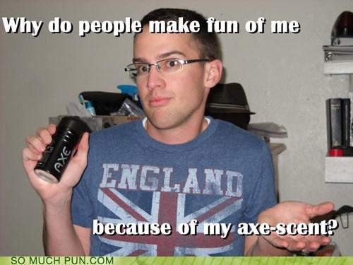 accent,axe,britain,British,homophones,question,scent