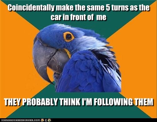 Paranoid Parrot: Better Take a Different Route Home