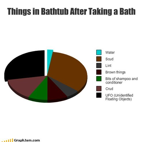Things in Bathtub After Taking a Bath