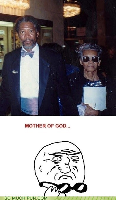 Bruce Almighty,double meaning,god,Hall of Fame,literalism,Morgan Freeman,mother,mother of god,Rage Comics,Rageface,role