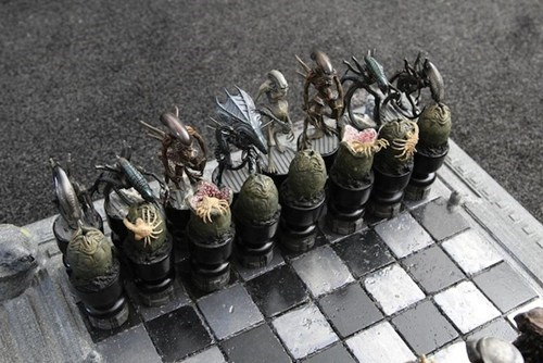 Alien vs. Predator Chess Set of the Day