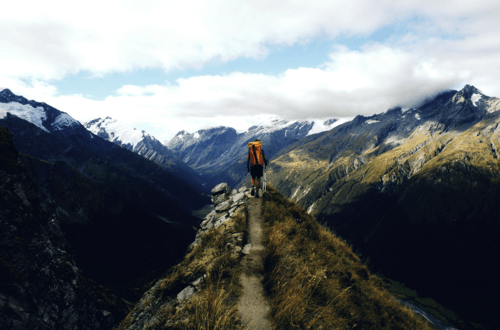 Hiking in the Mountains, South Island, New Zealand