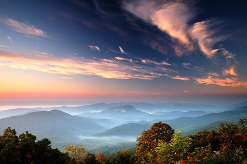 Vivid Sky over Moutains