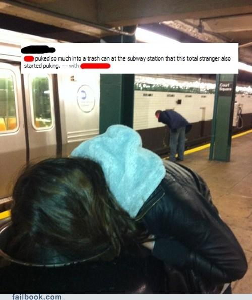 drunk,monkey see monkey do,Subway,vomit