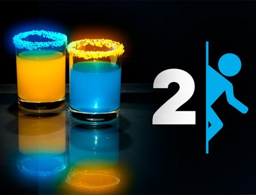 Portal 2 Cocktails of the Day