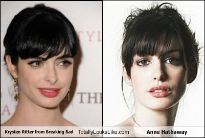 Krysten Ritter from Breaking Bad Totally Looks Like Anne Hathaway