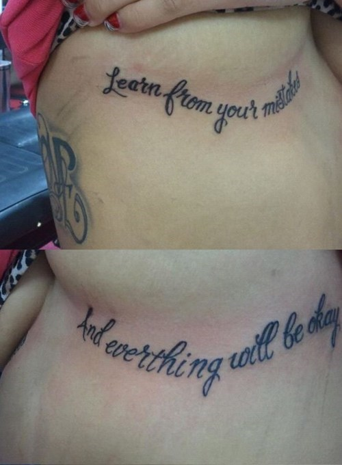 Ugliest Tattoos: Clearly Everything Will NOT Be Okay