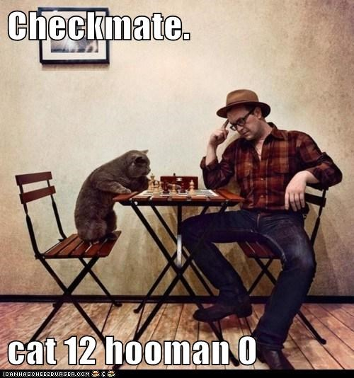 Checkmate.  cat 12 hooman 0