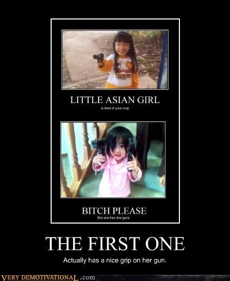 asian,girl,gun,Terrifying