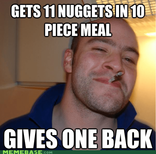 Good Guy Greg Doesn't Waste Barbecue Sauce