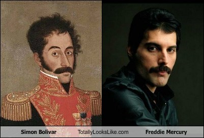 Simon Bolivar Totally Looks Like Freddie Mercury