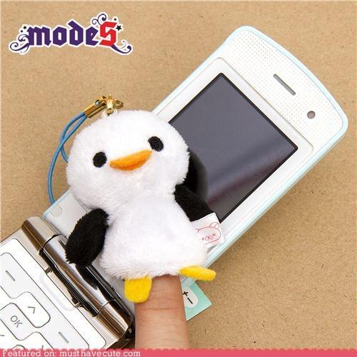 cell phone,charm,cleaner,penguin,Plush