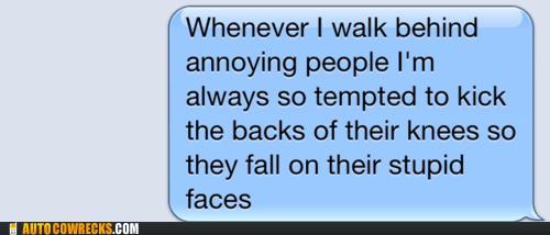 Stupid People and Their Stupid Knees