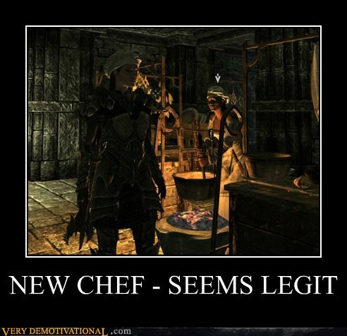 NEW CHEF - SEEMS LEGIT