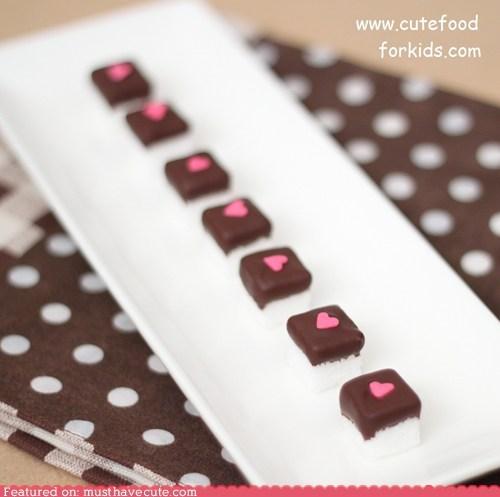 chocolate,epicute,heart,sugar,sugar cubes