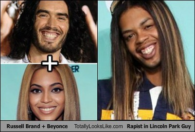 Russell Brand + Beyonce Totally Looks Like Antoine Dodson