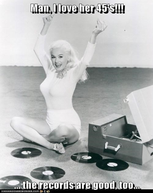 45s,bewbs,breasts,flirting,historic lols,records,smile,vintage,woman