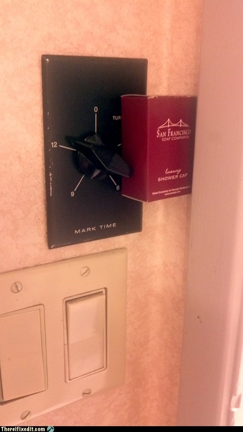dual use,holding it up,hotel,shower