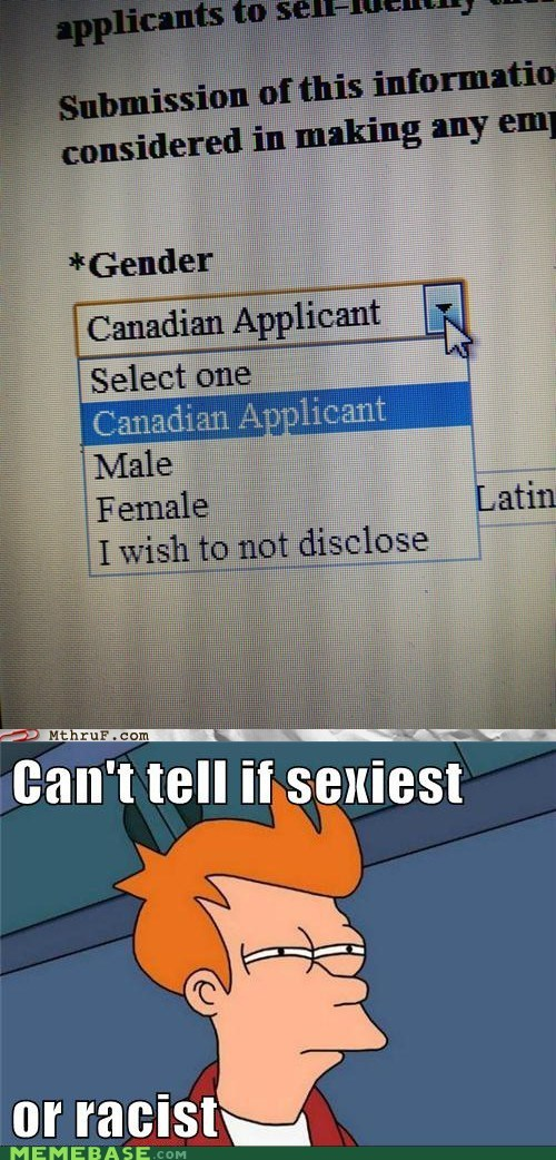 Canadian Is Now a Gender?