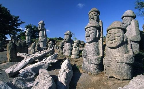 asia,getaways,harubang,jeju island,korea,south korea,statues,wallpaper,wallpaper of the day