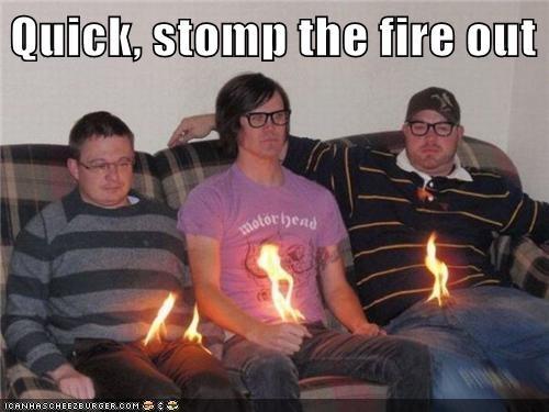 fire,flames,groin kick,hipsterlulz,stomp