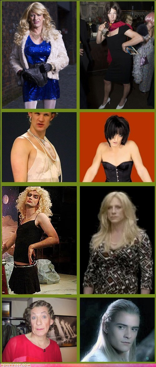 British Actors In Drag