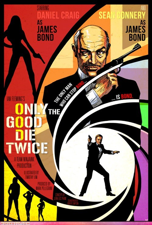 art,awesome,cool,Daniel Craig,Hall of Fame,james bond,sean connery