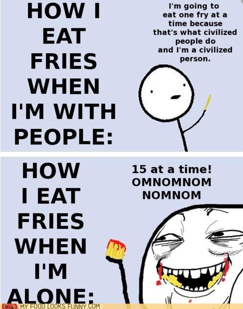civilized,eating,fries,gross,habits,public,rage comic