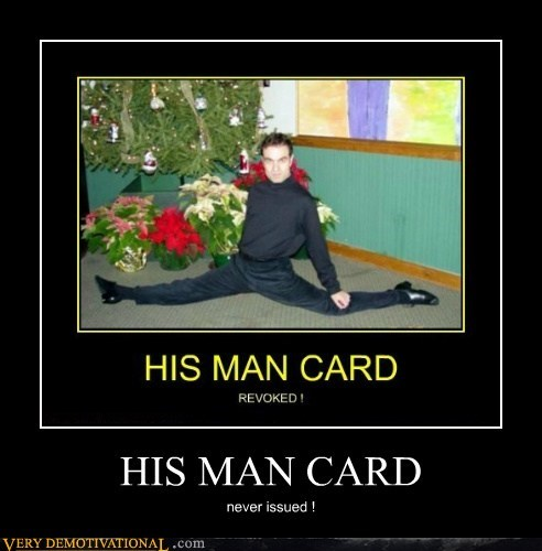 HIS MAN CARD