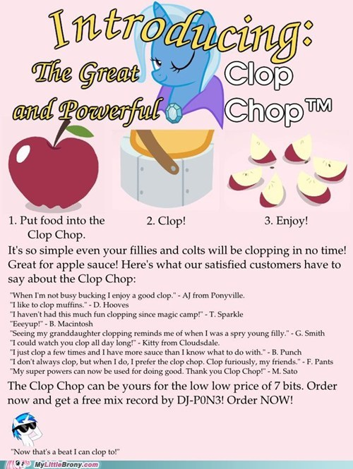 apples,clop chop,clopping,crossover,trixie