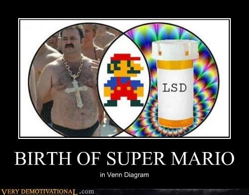 hilarious,italians,lsd,super mario,venn diagram