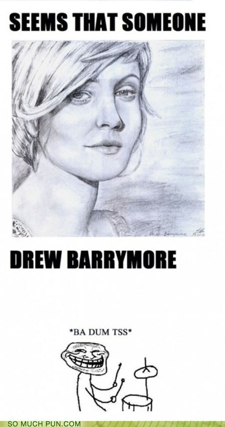 double meaning,drawing,drew,drew barrymore,Hall of Fame,literalism,name